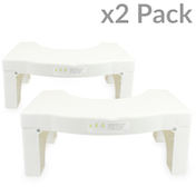 X2 Folding Squatting Toilet Stool | Medically Tested & Proven To Aid Bowel Movements | Non-Slip Bathroom Step Up Aid | Helps to Relieve Piles, Constipation & Bloating | Natural Postur