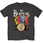 The Beatles Sgt Pepper Charcoal Mens TS: Medium