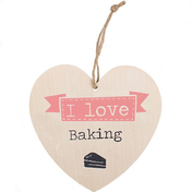Love Baking Hanging Heart Sign