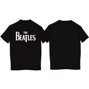 The Beatles - Drop T Logo Men's Small T-Shirt - Black