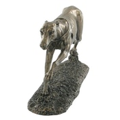 Single Greyhound Cold Cast Bronze Sculpture 8cm