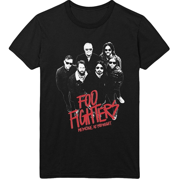 Foo Fighters - Medicine At Midnight Photo Unisex Large T-Shirt - Black