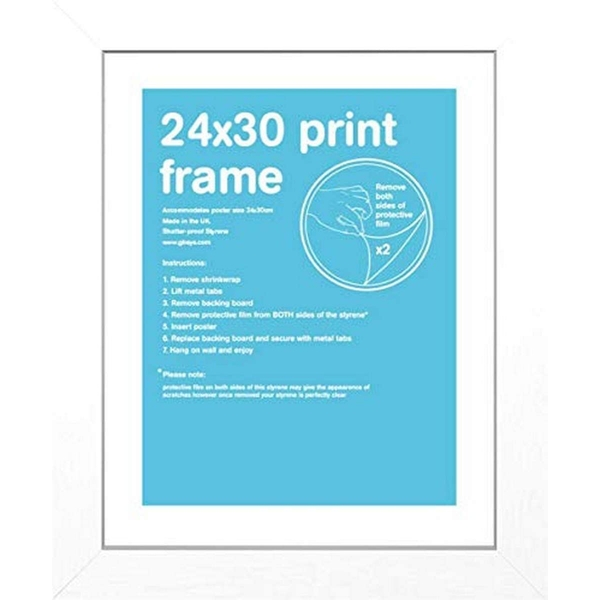 GB White Frame Wood 24x30cm