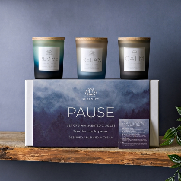Serenity Pause Set of 3 70g Candles