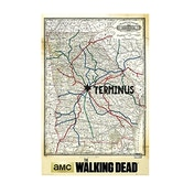 The Walking Dead Terminus Map Maxi Poster