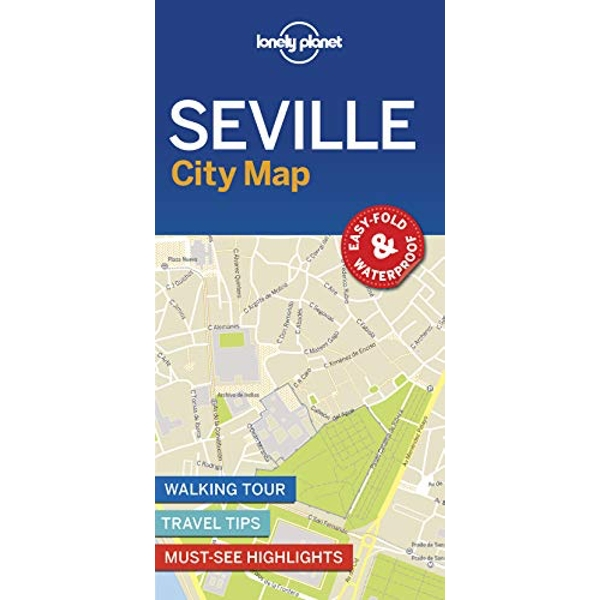 Lonely Planet Seville City Map  Sheet map, folded 2018