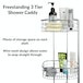Freestanding 3 Tier Shower Caddy | M&W - Image 3