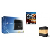 PlayStation 4 (500GB) Black Console + Battlefield Hardline + The Order 1886 Blackwater Edition