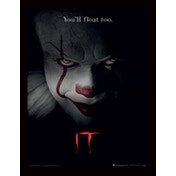IT - Pennywise Face Framed 30 x 40cm Print