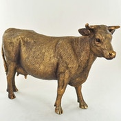 Cow Standing Bronze Finish