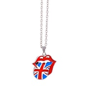 The Rolling Stones - Union Jack Tongue Necklace