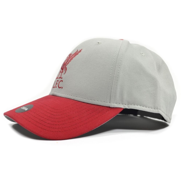 Liverpool Mass Two Tone Grey Red Strapback Cap