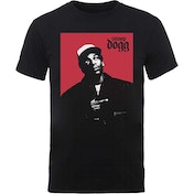 Snoop Dogg - Red Square Men's X-Large T-Shirt - Black