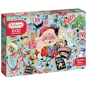 Falcon Contemporary Christmas Wishes Jigsaw Puzzle - 1000 Pieces