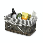 M&W Grey Wicker Baskets Small