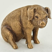 Sitting Pig Bronze Sculpture