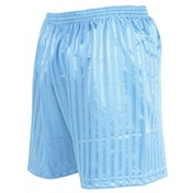 Precision Striped Continental Football Shorts 18-20 inch Sky Blue