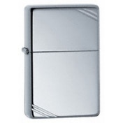 Zippo Vintage With Slashes High Polished Chrome Lighter