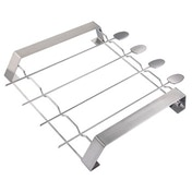 Xavax Barbecue Skewer Set, made of stainless steel, with rack, 5 pieces