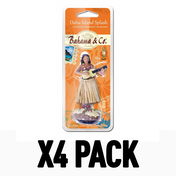 Bahama Hula Girl Oahu Island Splash Air Freshener