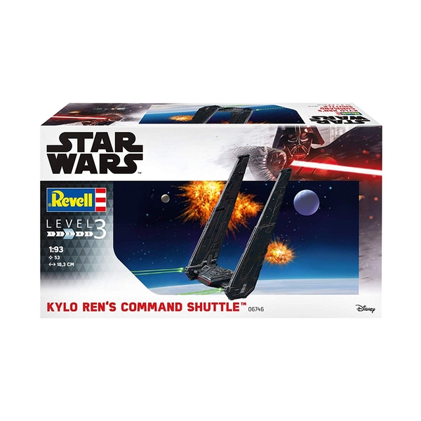 Kylo Rens Command Shuttle Star Wars Level 3 193 Scale Revell