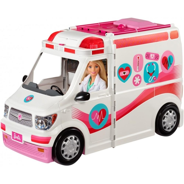 Barbie Large Ambulance & Hospital Care Clinic Rescue Vehicle