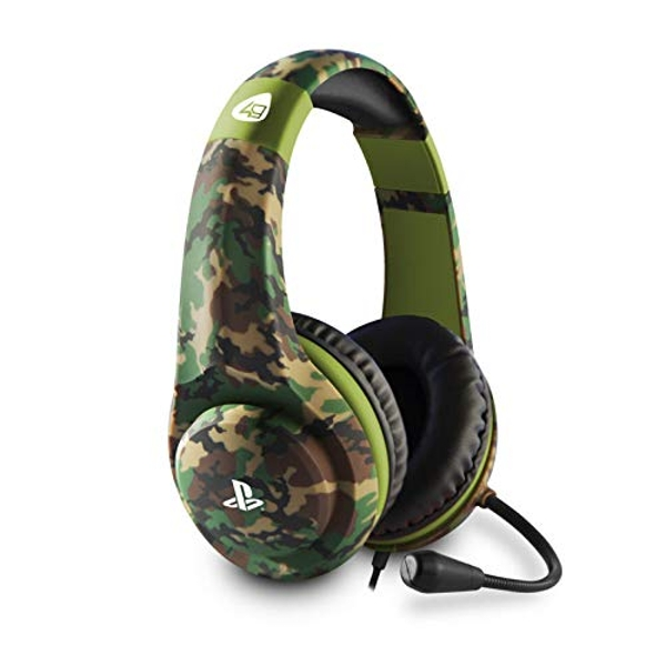4Gamers PRO4-70 Wired Stereo Gaming Camo Headset PS4