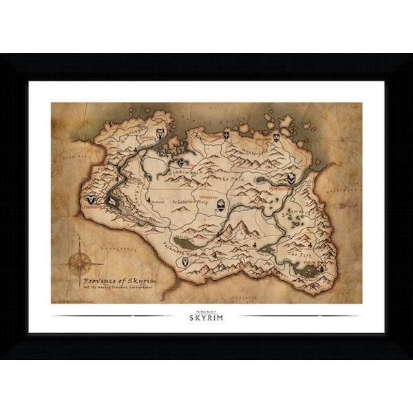 Skyrim Map Collector Print