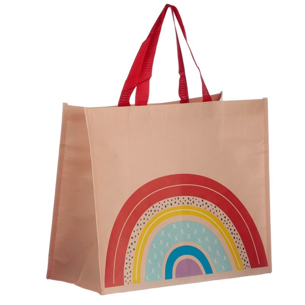 Somewhere Rainbow Recycled Plastic Bottles RPET Reusable Shopping Bag