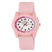 Lorus R2357NX9 Kids Time Teacher With Pink Silicone Strap