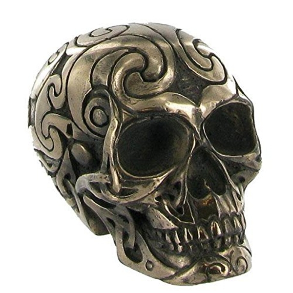 Tribal Cold Cast Bronze Skull (Small) - Image 1
