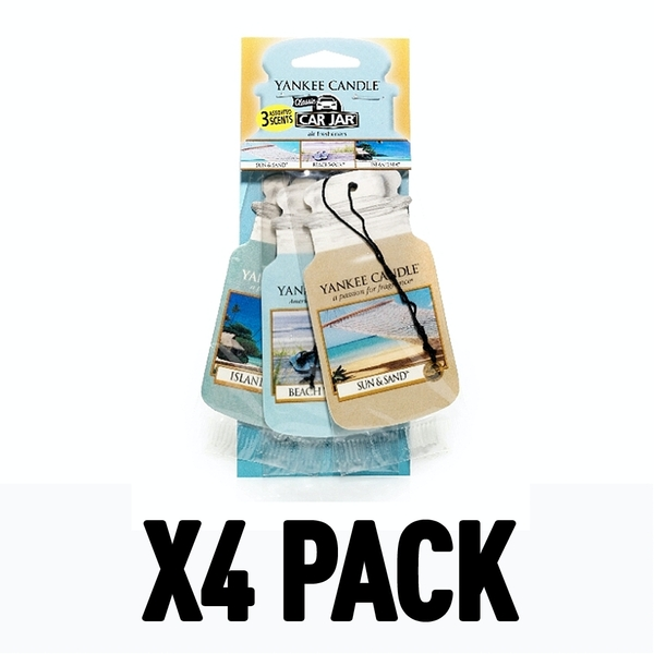 Beach Vacation (Pack Of 4) Yankee Car Jar Variety