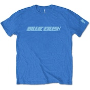 Billie Eilish - Blue Racer Logo Men's Large T-Shirt - Blue