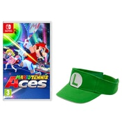 Mario Tennis Aces Nintendo Switch Game + Luigi Visor [Green]