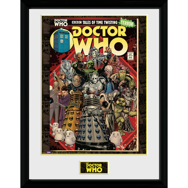 Doctor Who Villains Comic Framed Collector Print