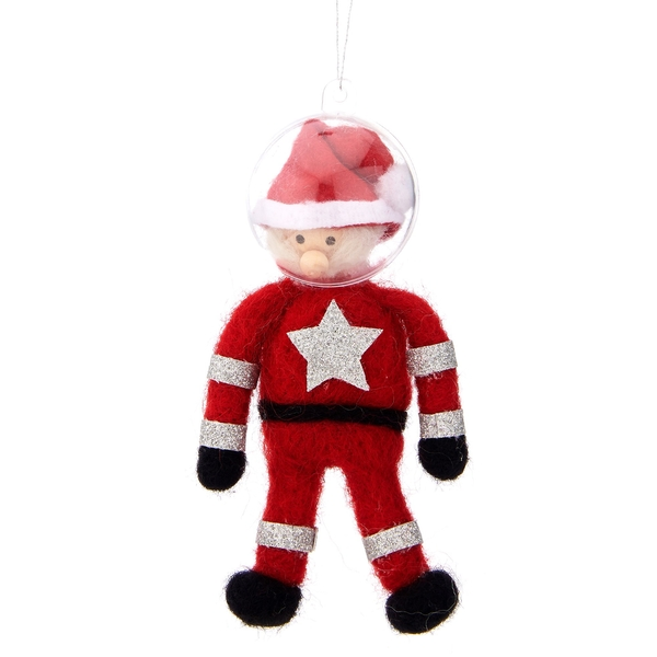 Sass & Belle Santa Astronaut Felt Hanging Decoration