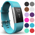 Yousave Fitbit Charge 2 Strap Single (Small) - Cyan