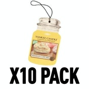 Vanilla Cupcake (Pack Of 10) Yankee Candle Car Jar Air Freshener
