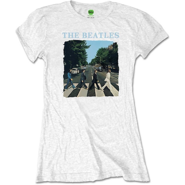The Beatles - Abbey Road & Logo Women's X-Large T-Shirt - White