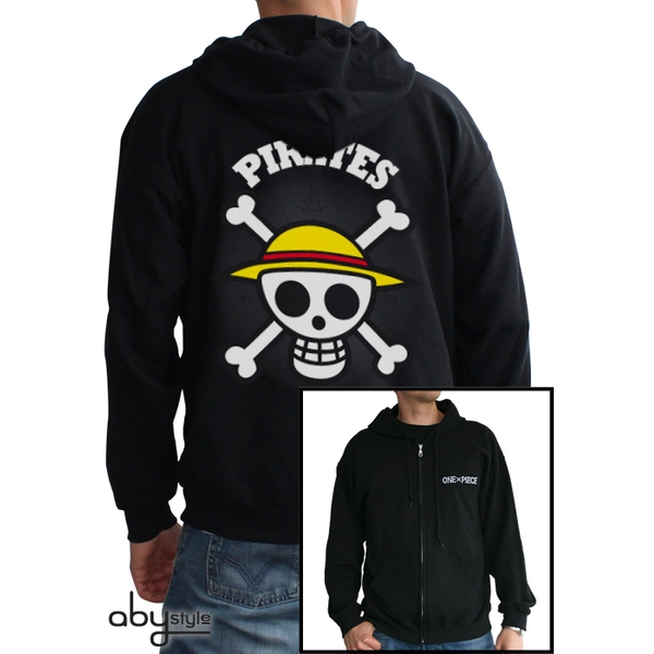 One Piece - Skull With Map Men's X-Large Hoodie - Black