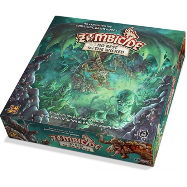 Ex-Display Zombicide Green Horde: No Rest For The Wicked Board Game Used - Like New