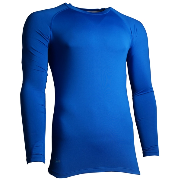 Precision Essential Base-Layer Long Sleeve Shirt Adult Royal - Small 34-36 Inch