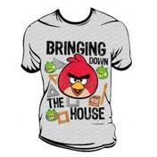 Angry Birds Bringin Down The House T-Shirt Medium