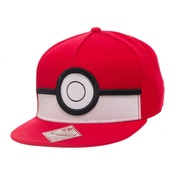 Pokemon Unisex 3D PokeBall Snapback Red Baseball Cap