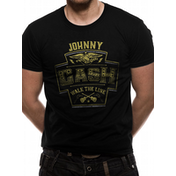 Johnny Cash - Walk The Line Men's Small T-Shirt - Black