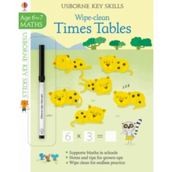 Wipe-Clean Times Tables 6-7 by Holly Bathie (Paperback, 2017)