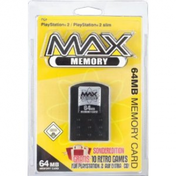 MAX Memory 64MB + 10 Retro Games PS2