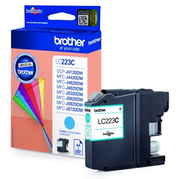 Brother LC-223C Ink cartridge cyan, 550 pages, 6ml