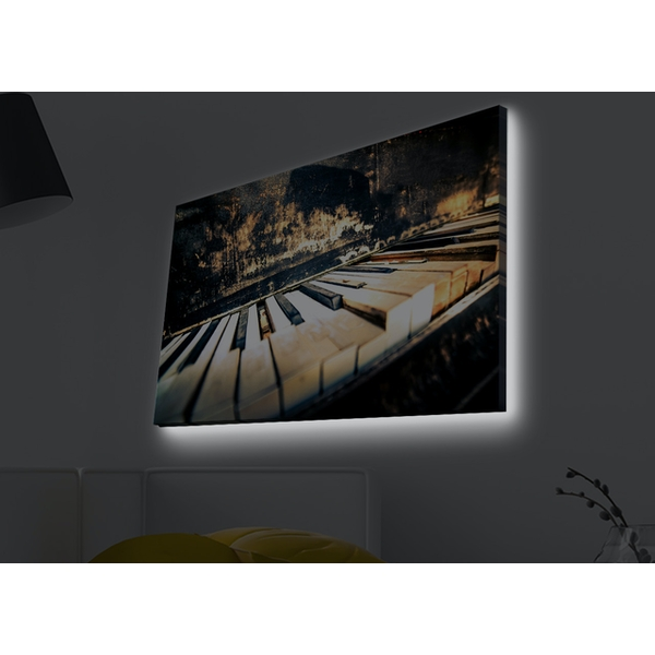 4570MDACT-006 Multicolor Decorative Led Lighted Canvas Painting