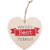World's Best Friend Hanging Heart Sign
